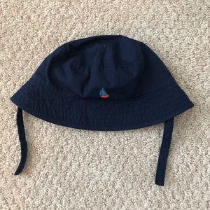 Janie and Jack Sailboat Bucket Hat- Navy